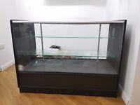 Glass Display Cabinet Black