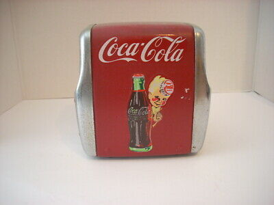 Vintage Coca-Cola   Metal Napkin Holder Dispenser