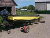 boat, motor, and trailer combo
