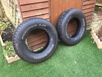 TWO STEEL RADIAL CAR TYRES SIZE 225 X 75 X 16 BRAND NEW.