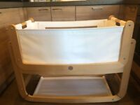 Snuz Pod 3 in 1 Bedside Crib Natural Beach Like New