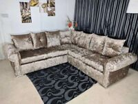 **BRAND NEW ** GLP Velvet Corner sofa with firm Foam Seat cusion
