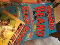 Dandy - 2 annuals and 9 comics and Beano - 2 Annuals and 2 cartoon books