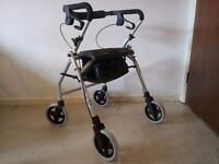 Brand New Aluminium Rollator Walking Frame Aid RT-812 Comes With Shopping Basket