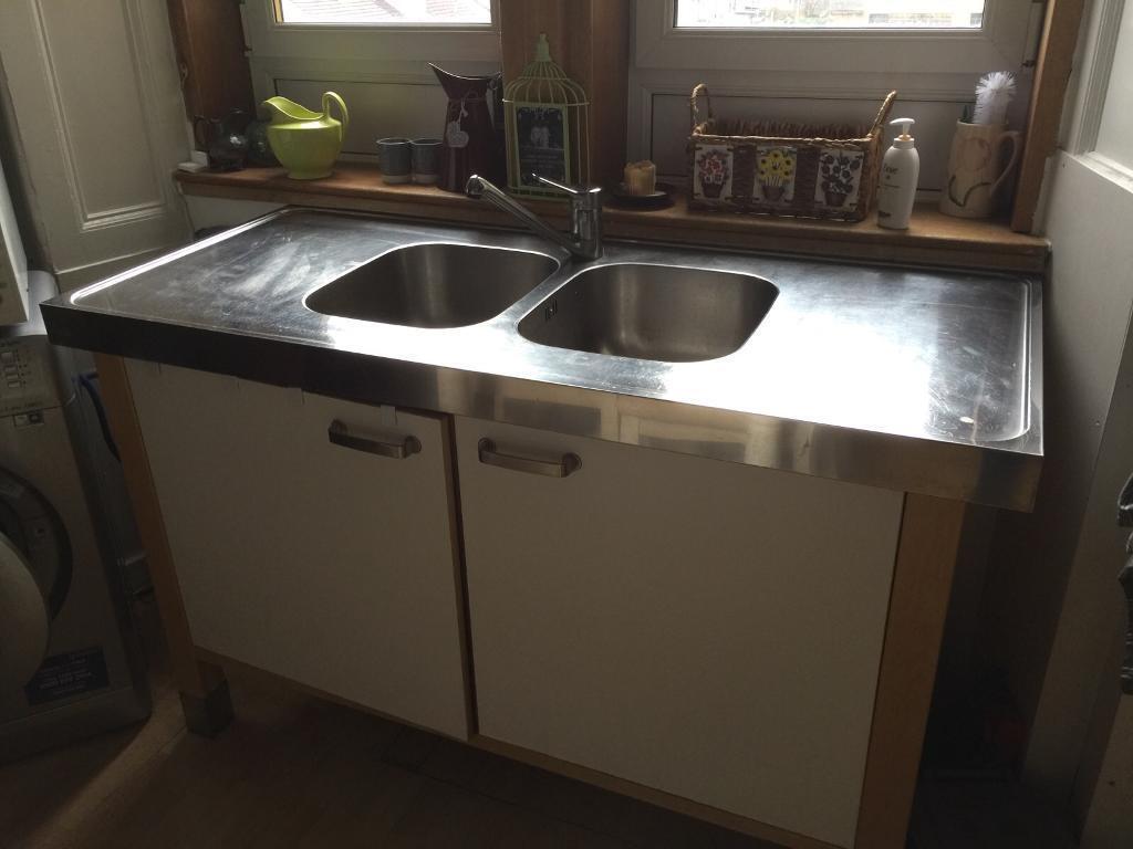 IKEA double sink unit