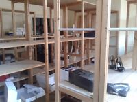 """""""LUNDIA"""" Wooden racking. Superb quality, easy to assemble. 6 bays 2 uprights + 5 shelves."""