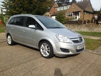 Vauxhall Zafira 2008 Elegance 1.9 diesel Auto Automatic Low Mileage TOP SPEC 7 Seater Drives greats