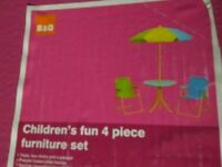 Children outdoor patio set
