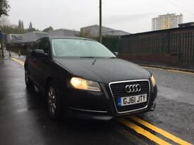 AUDI A3 1.6 TDI 5DR BLACK 2011 CLEAN CAR DRIVES MINT £30 A YEAR ROADTAX