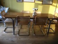 Beautiful Retro designer dining table and chairs seats 6 to 8