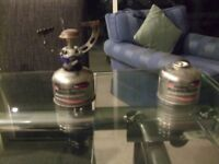 Small Gas Stove and 10 cannisters -Iso Butane Propane Mix Gas - for fuel