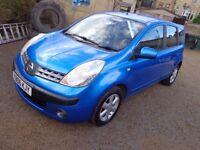 Stunning Blue 2006 Nissan Note SE 1.4 Petrol, 5 Door, Full Service History Great Family Car