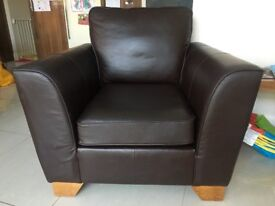 Excellent Condition Brown Leather arm chair from M&S
