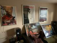 5 LARGE FRAMED SCAR FACE MOVIE POSTERS