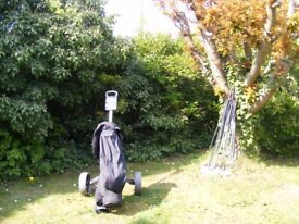 Golf Trolley with Clubs and Bag
