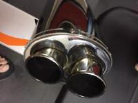 MTC twin outlet stainless exhaust for an aprilia rsv 1000 mille 2001