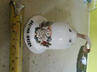 Vintage China Bell containing Pot Puri (from John O'Groats)