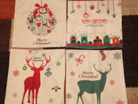 Bundle 4 Christmas Cushion Covers with Reindeers etc Brand New Size 17x17ins £5 LOT Will Post