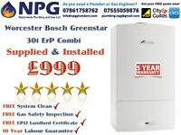 Worcester Bosch Greenstar 30i ErP Combi*Which Awards Boiler 2016*Supplied & Fitted £999*(RRP £3K)