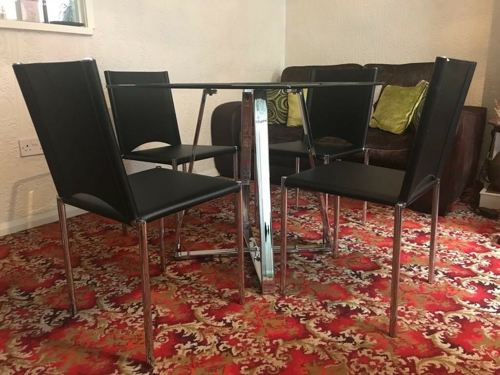1 Modern Dining Table 4 Chairs 2 Vintage Tables 1 Commode In