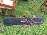 Head snowboard and bindings