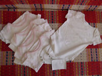 Girls Bundle of 5 Cotton Short Sleeve Bodysuits from M&S for 2-3 years.
