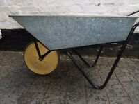 GALVANISED GARDEN WHEEL BARROW