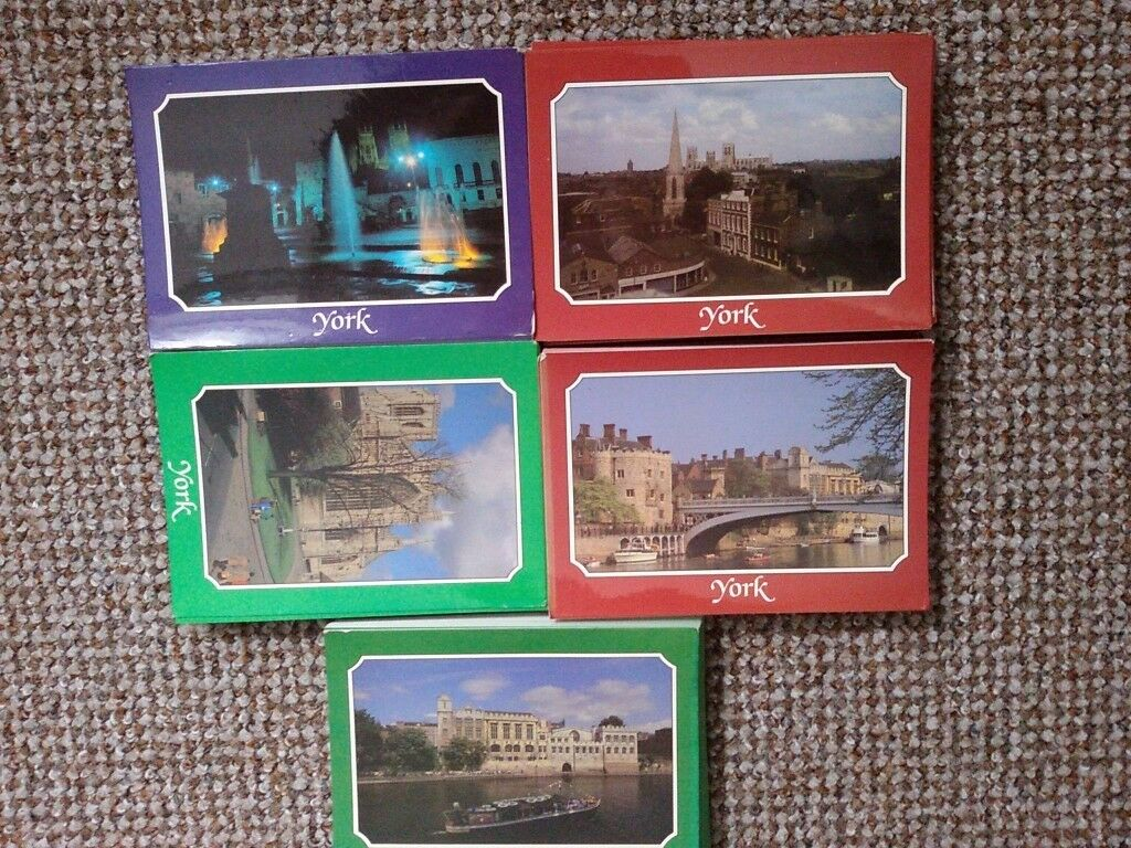 York early 7 inches scenery postcards 5 sets of 250 copies,约克早年的7英寸风光明信片5套250张