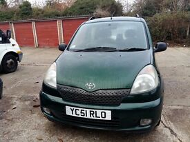 TOYOTA YARIS VERSO 5 DOOR HATCHBACK. 1299 CC . PETROL MANUAL GEAR.