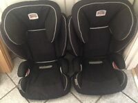 Pair of britax isofix car seats