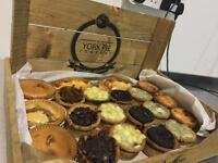 Box of 20 gourmet pork pies various toppings