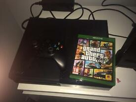 Xbox one with game and pad