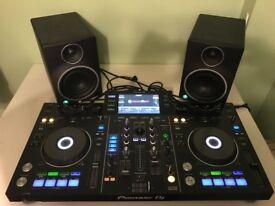 Pioneer XDJ-RX With Paid of Mackie MR5 MK3 Studio Monitors (8 MONTHS OLD)