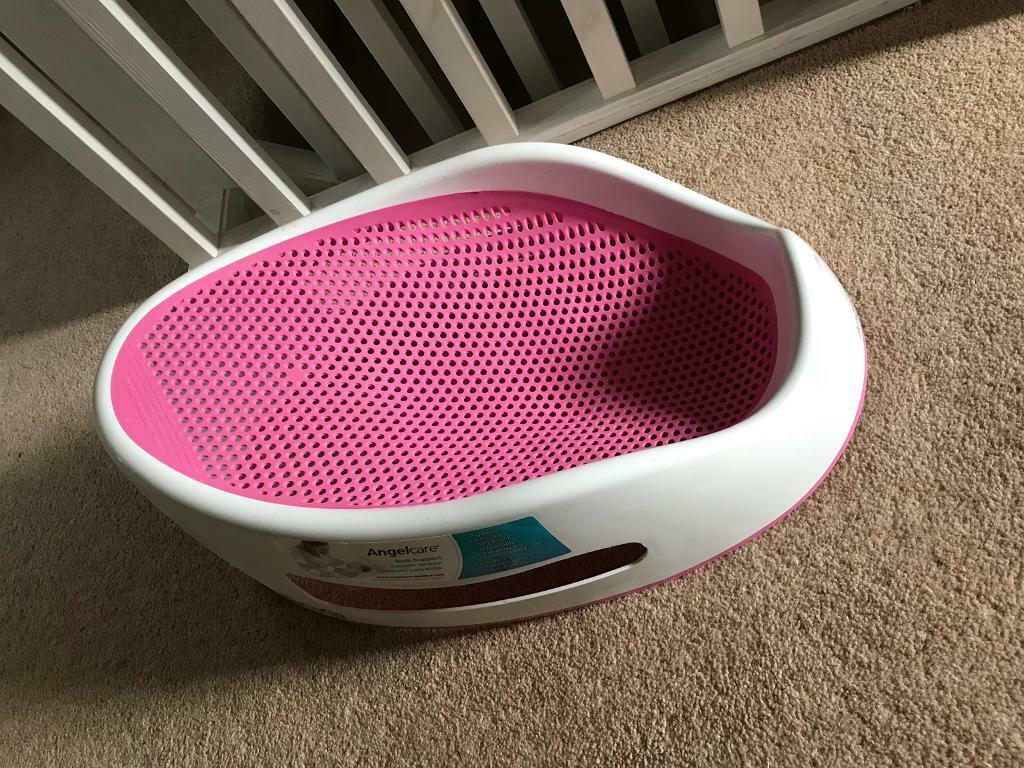 Angelcare Baby Bath Support Seat in Pink - VGC