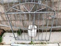 Galvanized metal gate