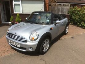 Mini Cooper Cabriolet for Sale. 41,000 miles in mint condition. Lady owner.