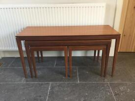 Vintage 1960's Afromosia Nest of Tables by Richard Hornby