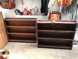 Book case book shelf hardwood x 2