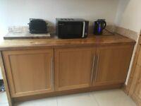 Ikea oak kitchen units & solid oak worktops
