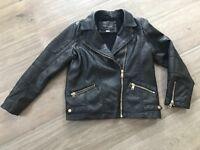 Girls River Island Girls Leather Jacket Age 9