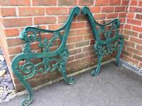 Cast iron garden bench ends with lion head