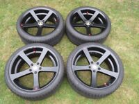 HADES APOLLO 19 ALLOY WHEELS ET40 PCD5X112 WITH BRIDGESTONE POTENZA TYRES VW AUDI MERCEDES
