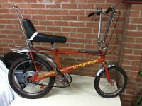 Raleigh chopper mk2 1977 infra red yellow decals