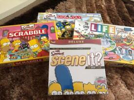 Simpsons Edition Board Games Bundle