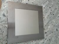 Bathroom mirror sink toilet and chrome towel rail good condition
