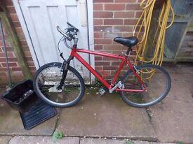 Unisex 21 Gear Red Bike