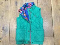 Joules Green padded Gilet Aged 7