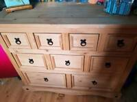SIDEBOARD WITH DRAWERS . TABLE & Y CHAIRS & SIDEBOARD