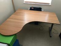 Large left curving corner desk