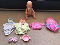 Baby Born, Collection of clothes and baby carrier